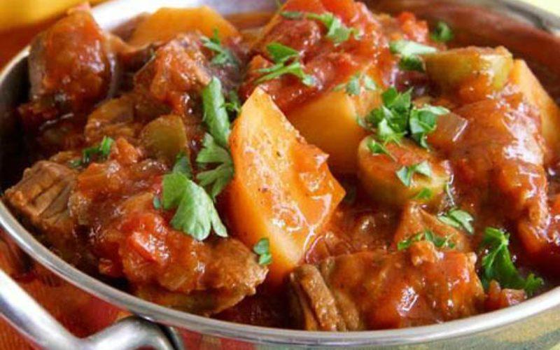 طرز تهیه خوراک گوشت و سبزیجات